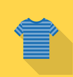 striped shirt icon with long shadow vector image vector image