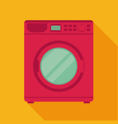 Washing machine in flat stylemodern vector