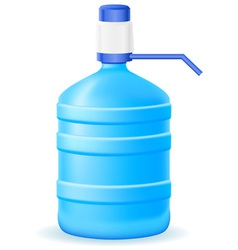 Water in a plastic bottle vector