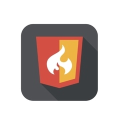 Web shield flame php vector