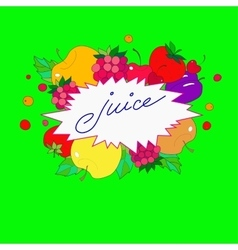 with the image lettering juice in the vector image