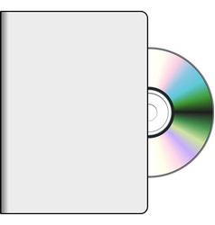 Dvd cover with disk vector