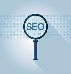 Seo search engine optimization magnifying glass vector