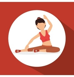 Woman athlete avatar fitness sport vector