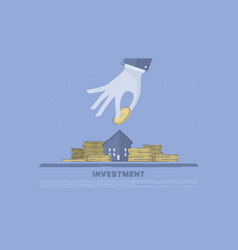 property investment concept business vector image
