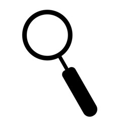 Magnifying glass the black color icon vector