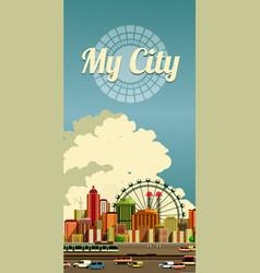 Urban city flyer vector