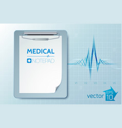 Medical care template vector
