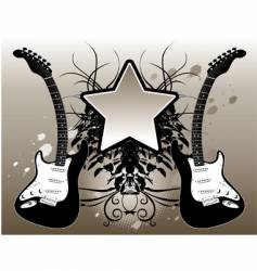 Star guitar vector