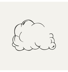 Cloud of dust black and white style vector