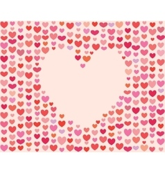 Saint valentines day heart frame vector
