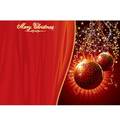 Template for chrismas card vector