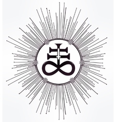 The satanic cross symbol illsutration vector