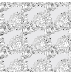Sketchy doodles decorative lace pattern vector