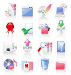 software and application icons vector image