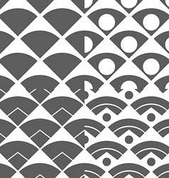 Set of abstract peacock tail seamless pattern vector