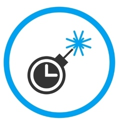 Time bomb circled icon vector