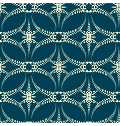 Seamless laurel wreath pattern swirl ornament vector