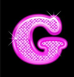 G letter pink bling girly vector image