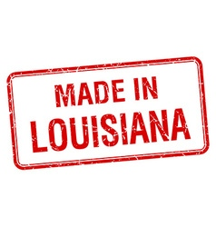 Made in louisiana red square isolated stamp vector