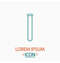 Test tube computer symbol vector