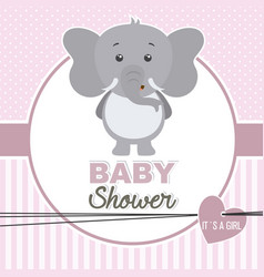 baby shower girl vector image vector image