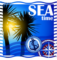 background on the marine theme vector image vector image