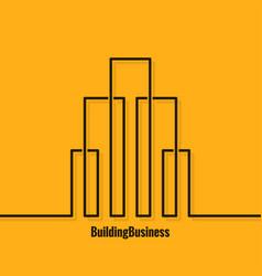 Building abstract logo concept background vector