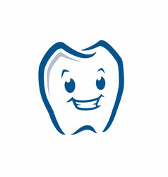 Cartoon tooth icon vector