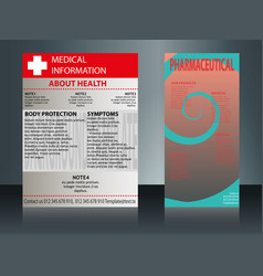 collection of 2 abstract medical business cards vector image vector image