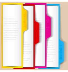 Colorful bookmarks and banners with place for text vector image