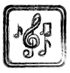 Contour symbol music sign icon vector