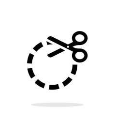 Cut circle icon on white background vector image