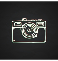 Doodle photo camera hand draw vector image