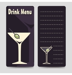 Drink menu brochure flyers template vector