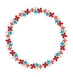 Floral circular frame icon vector