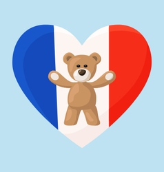 French Teddy Bears vector image
