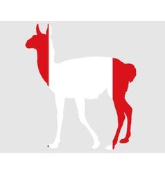 Guanaco Peru vector image vector image