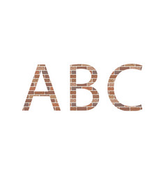 letters abc in bricks vector image vector image