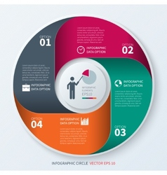 Modern infographics circle vector image