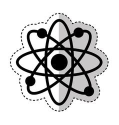 Molecular sign isolated icon vector