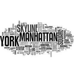 new york word cloud concept vector image