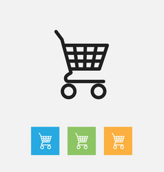 Of business symbol on shopping vector