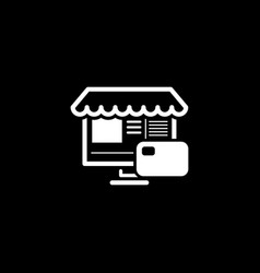 Online store icon business concept vector