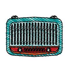 Radio retro old icon vector