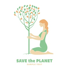 Save Planet vector image vector image