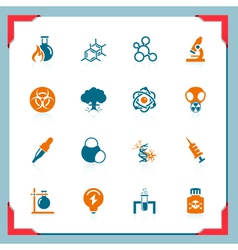 science icons - in a frame series vector image vector image