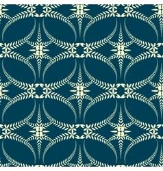 Seamless laurel wreath pattern Swirl ornament vector image