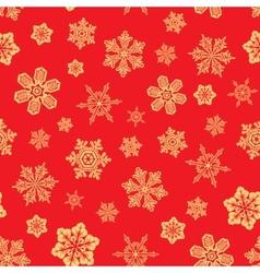 seamless snwoflakes background vector image vector image