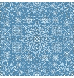 Snowflakes lace seamless patternNew year vector image vector image